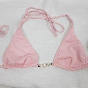 Becca Pink Bikini Swimsuit Top
